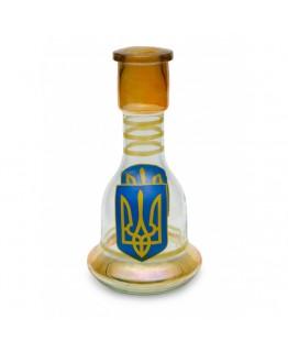 """Колба фигурная """"Тризуб"""" для кальяна (31см)"""