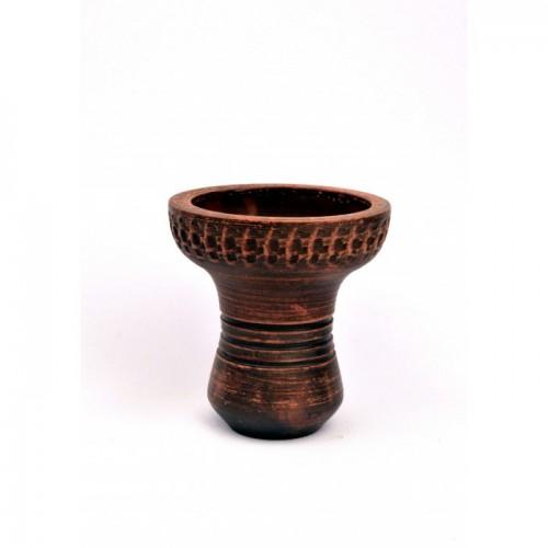Чаша для кальяна с красной глины Барвинок Молочоная