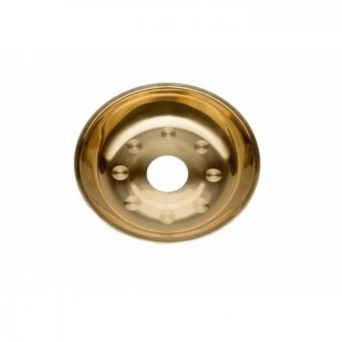 Тарелка металлическая с кругляшками 17*3(4)см