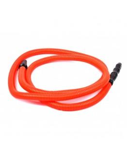 Шланг одноразовый разноцветный с пластиковым мундштуком (красный)